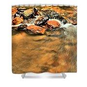 River Rock Swirl Shower Curtain