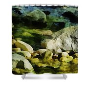 River Rocks 3 Shower Curtain
