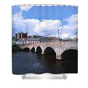 River Slaney, Enniscorthy, Co Wexford Shower Curtain
