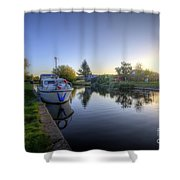 River Sunrise Shower Curtain