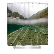 River Surface Shower Curtain