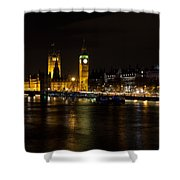 River Thames And Westminster Night View Shower Curtain