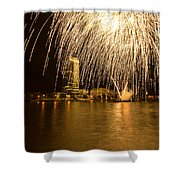 River Thames Fireworks Shower Curtain