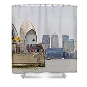 River Thames Landscape Shower Curtain