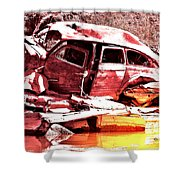River Wreck Ver2 Shower Curtain
