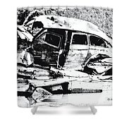 River Wreck Ver3 Shower Curtain