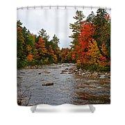 Rivers Run Through It..fall Brilliance Shower Curtain