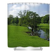 Riverside Meadows - Ashford-in-the-water Shower Curtain