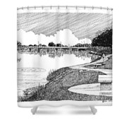Riverwalk On The Pecos Shower Curtain