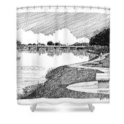 Riverwalk On The Pecos Shower Curtain by Jack Pumphrey