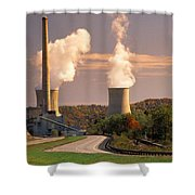 Road And Nuclear Plant.  Kentucky Shower Curtain
