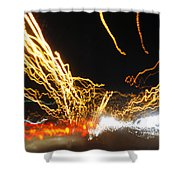Road Cars And Street Lights Shower Curtain
