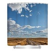 Road Near Ten Sleep Wyoming Shower Curtain