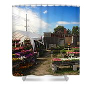 Road Side Stand Shower Curtain
