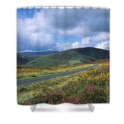Road Through A Mountain Range, County Shower Curtain