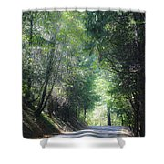 Road To Apple Hill Shower Curtain