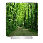 Road To Jasper Woods Shower Curtain