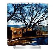Road To Mescalero Shower Curtain