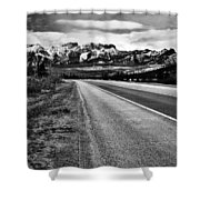 Road To Rocks  Shower Curtain