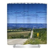 Road To The Valley Shower Curtain