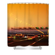 Road Traffic Shower Curtain