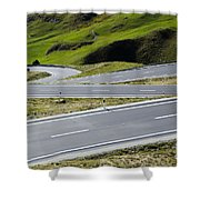 Road With Curves Shower Curtain by Mats Silvan