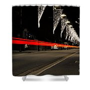 Road With Lights Shower Curtain