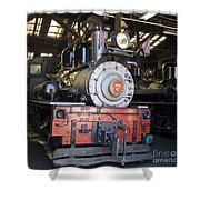 Roaring Camp West Side Shay Shower Curtain