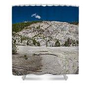 Roaring Mountain Panorama Shower Curtain