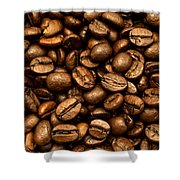 Roasted Coffee Beans Shower Curtain