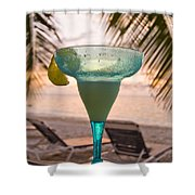 Roatans West Bay, Tropical Drink Shower Curtain