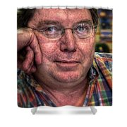 Rob At Work Shower Curtain