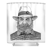 Roberto Villa Real Shower Curtain by Jack Pumphrey
