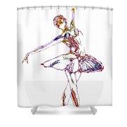 Robot Diva Shower Curtain
