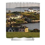 Roches Point Lighthouse In Cork Harbour Shower Curtain