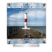 Rochester New York Harbor Lighthouse Shower Curtain