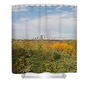 Rochester Skyline Panorama Shower Curtain
