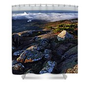 Rock And Fog Shower Curtain