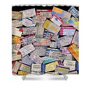 Rock And Roll Memories Shower Curtain