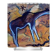 Rock Art No 2 Beast And Adder Shower Curtain