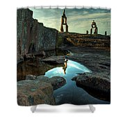 Rock Balancing Grand Marais Shower Curtain