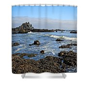 Rock Beach Shower Curtain