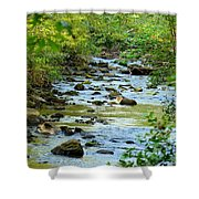 Rock Creek Bed Shower Curtain
