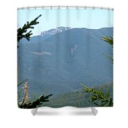 Rock Formation On The Ridge Shower Curtain
