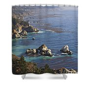 Rock Formations Along The Coast Big Sur Shower Curtain