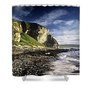 Rock Formations At The Coast Shower Curtain