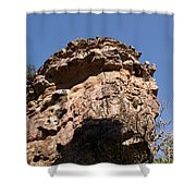 Rock Formations Bhimbhetka Shower Curtain