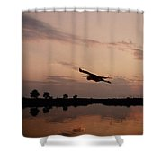 Rock Hall Heron Shower Curtain