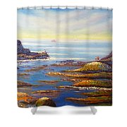 Rock Pools At North Beach Wollongong Shower Curtain