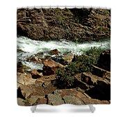 Rock Rush Glen Alpine Creek Shower Curtain